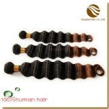 two tone ombre color hair weft
